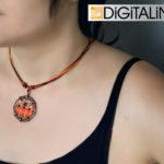 Кулон/брелок «Digital Planet» (d = 35 mm)