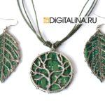 Кулон «Digital forest» — «Цифровой лес»