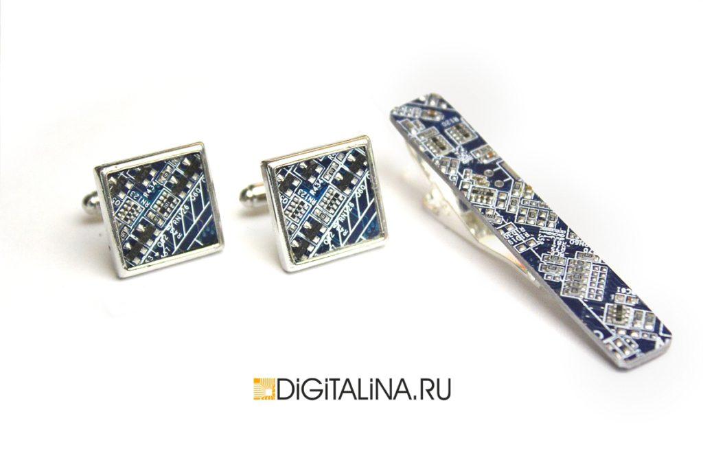 Кибер-зажим для галстуков прямоугольный