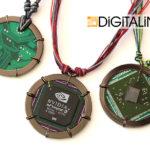 Кулон «Digital Planet L-55». D = 55 мм