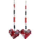 Серьги «Pixel heart»