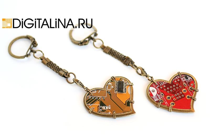 Трансформер: кулон/брелок «Antique heart»