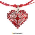 Подвеска «Pixel heart»