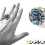 Кольцо «Digital Planet». 2см