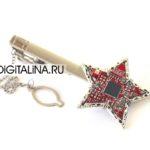 Зажим для галстука «Кибер-Звезда»