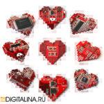 Кулон «Pixel heart»