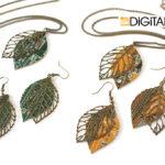 Серьги «Цифровой гербарий — M»