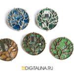 Брошь «Digital forest»