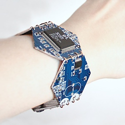 Гексагоновый кибер-браслет 4 см
