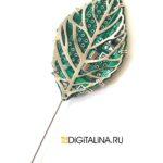 Брошь-игла «Кибер-гербарий»