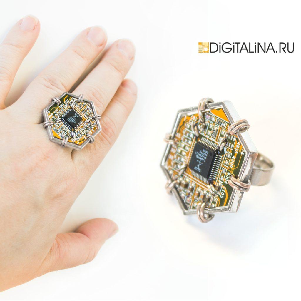 кольцо Cyber Hexagon