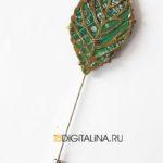 Брошь-игла «Кибер-гербарий М»