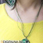 Кулон«Цифровой гербарий XL»