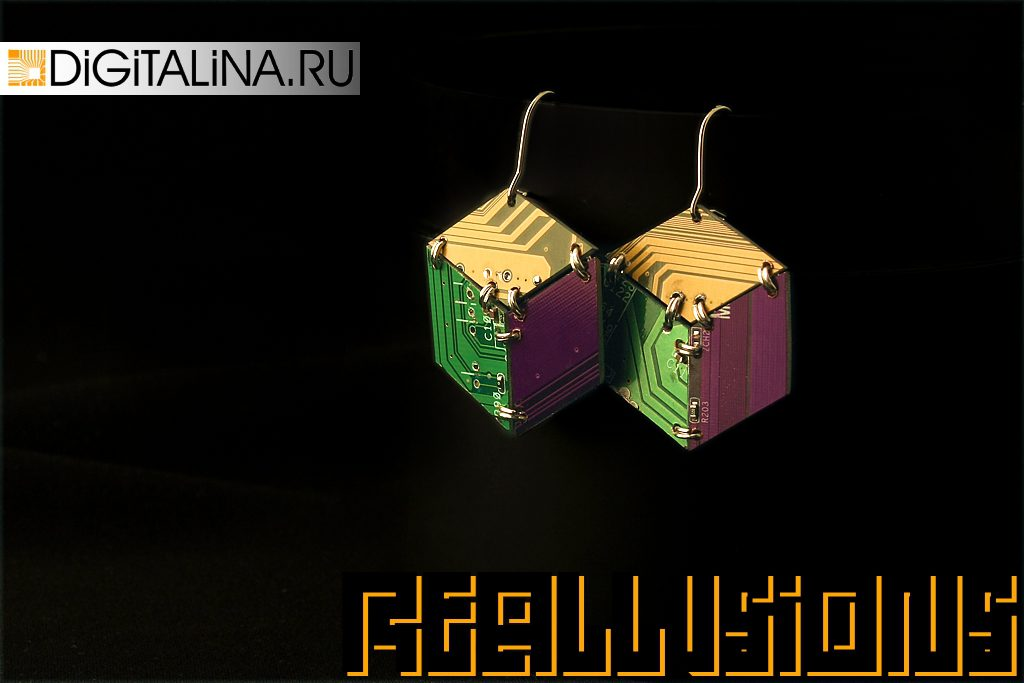 Серьги Illusory Cubes