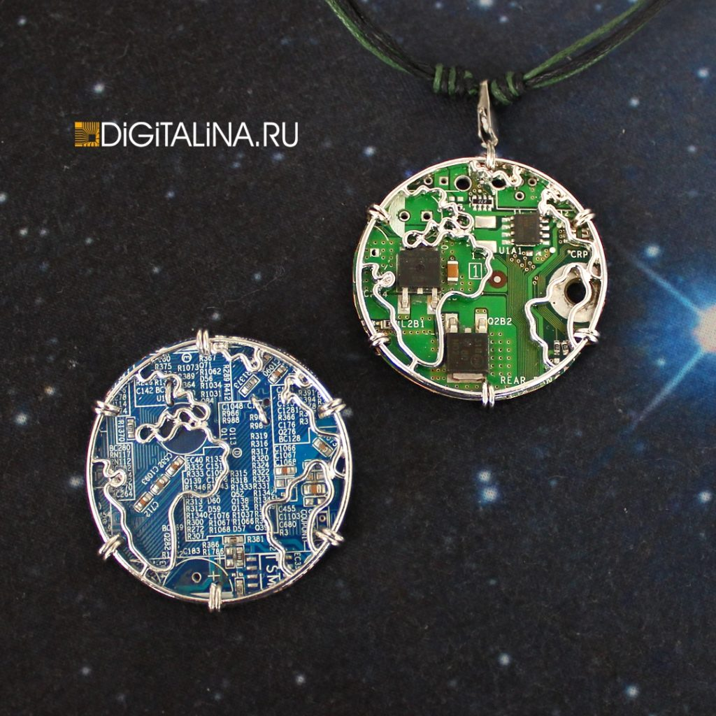 Брошь Cyber Earth