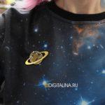 Брошь «Saturn the Gas giant»